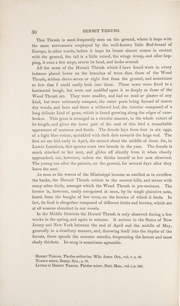excerpt of John James Audubon. The Birds of America from Drawings Made in the United States and Their Territories