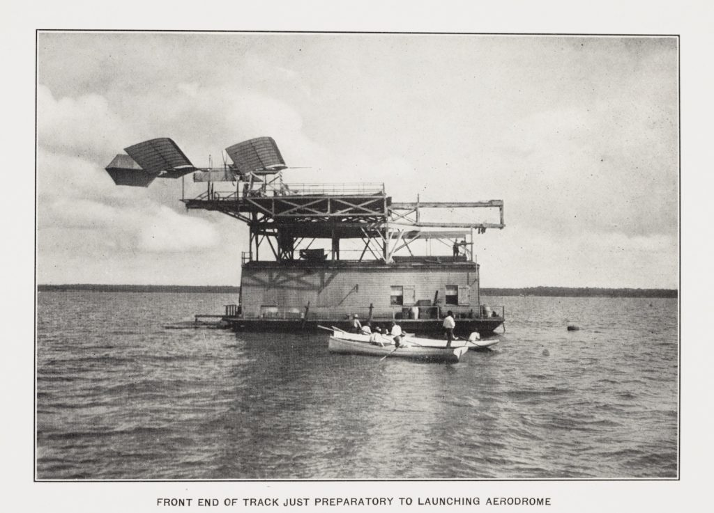 Photo of Aerodrome A in the Potomac River