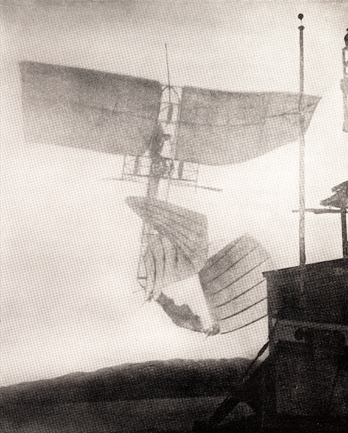 only photograph of Samuel Langley's Aerodrome A in flight
