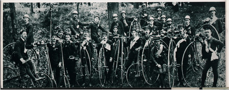 photo of a team of bicyclists