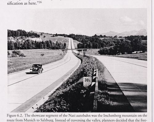 Photograph of the German autobahn in the late 1930s