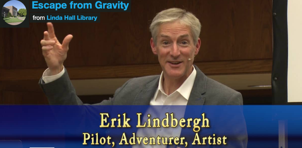 "still from Erik Lindbergh's ""Escape from Gravity"""