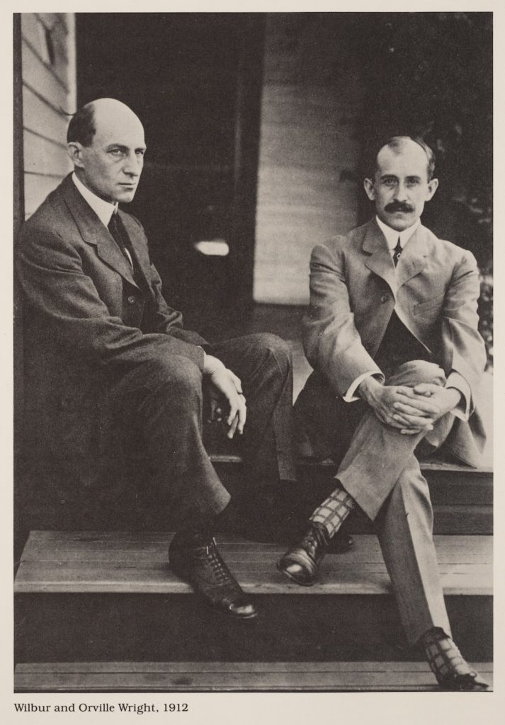 Wilbur and Orville Wright at home in Dayton, Ohio