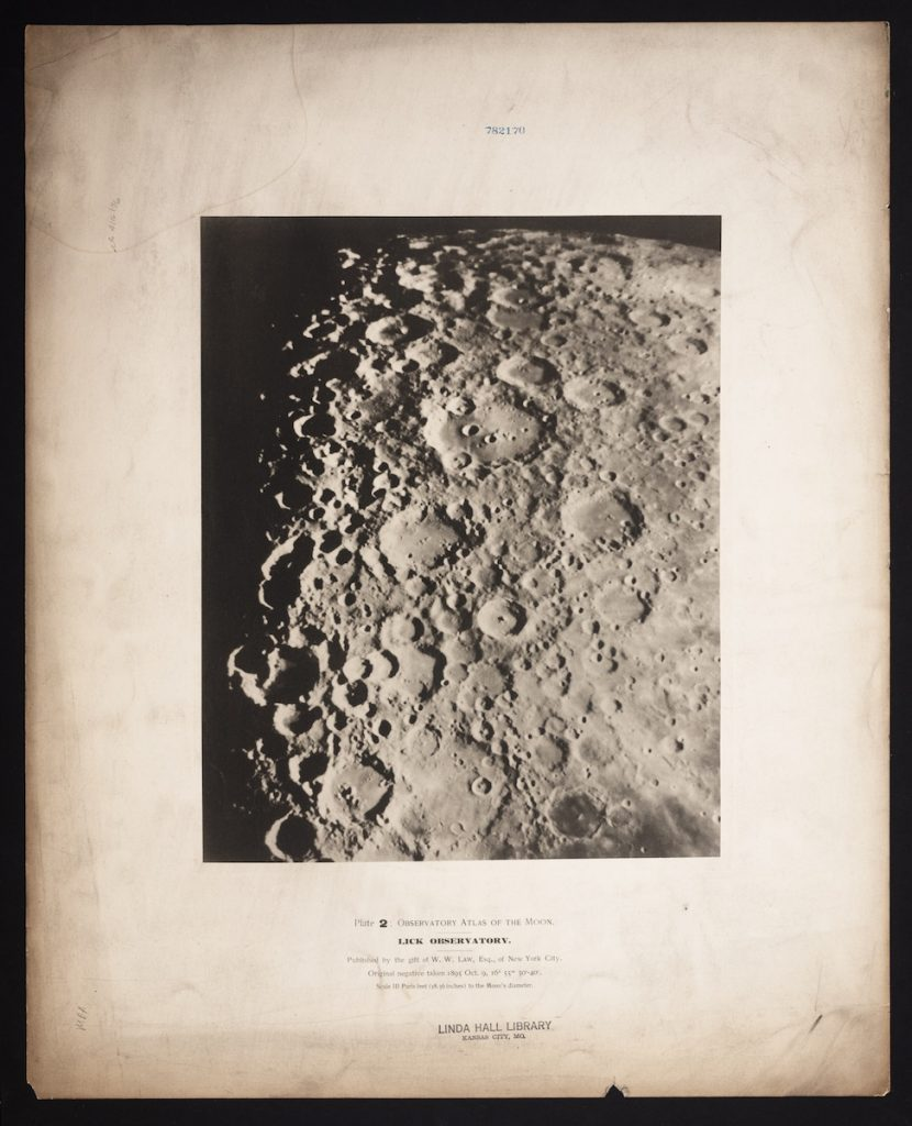 Illustration of Plate 2 from the Lick Observatory's lunar atlas.