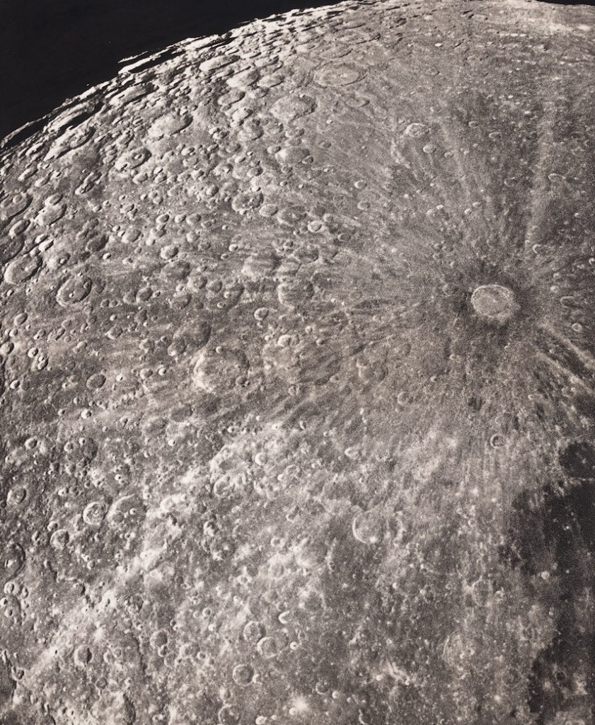 """Plate XXXVII, """"Radiance of Tycho, Waning Phase"""" from Atlas photographique de la lune."""