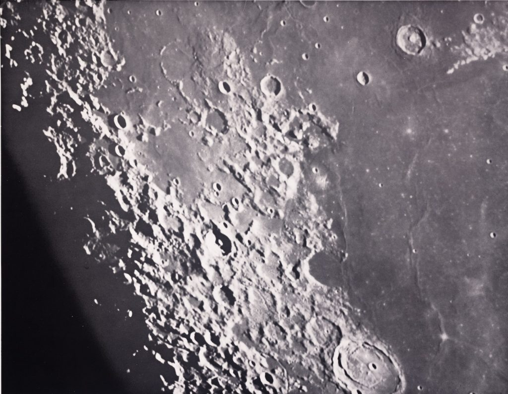 Image of the moon taken from the Lick Observatory in 1919