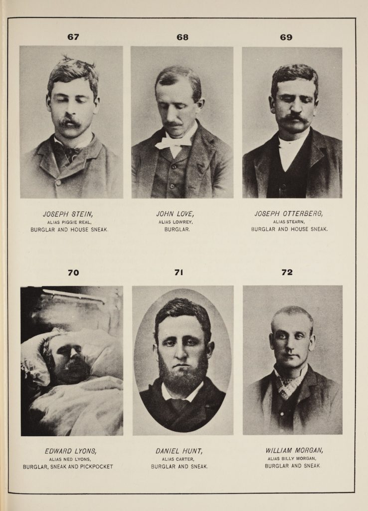 Six criminals published in Thomas Byrnes' Professional Criminals of America.