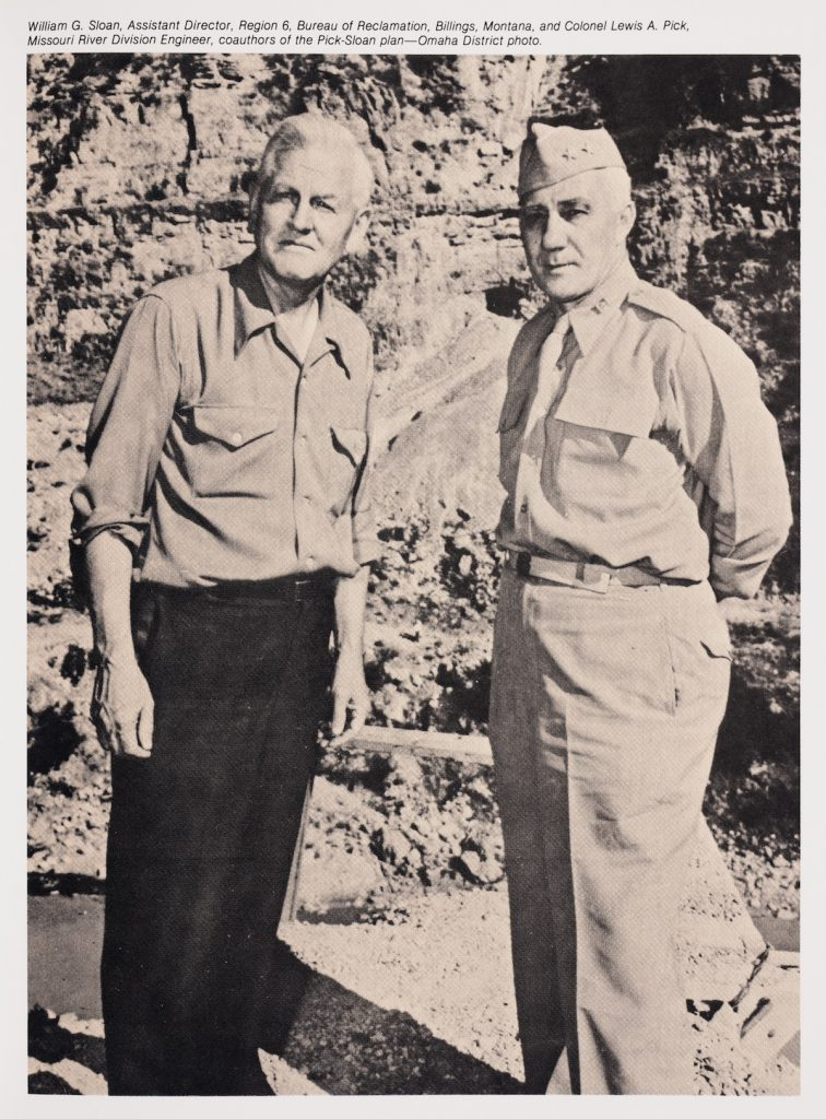 Image of two men, William Sloan on the left, and Lewis Pick on the right