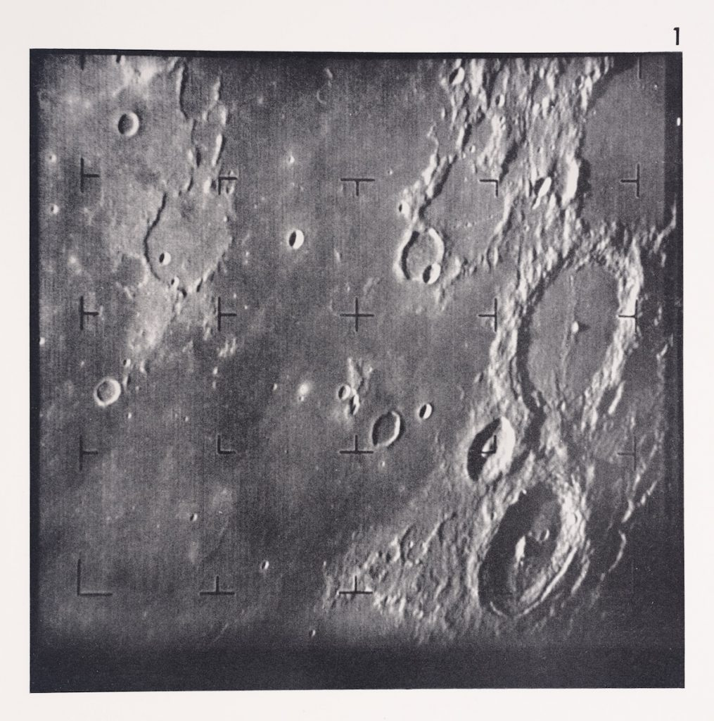 The first image of the Moon taken by a U.S. spacecraft.