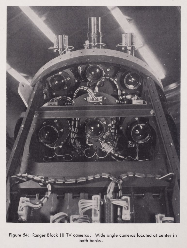 Image of a camera arrangement inside of a Ranger spacecraft.