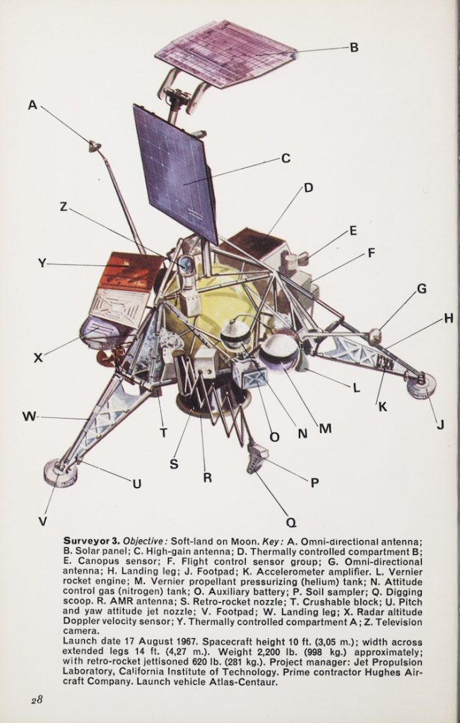 Illustration of the Surveyor 3 spacecraft.