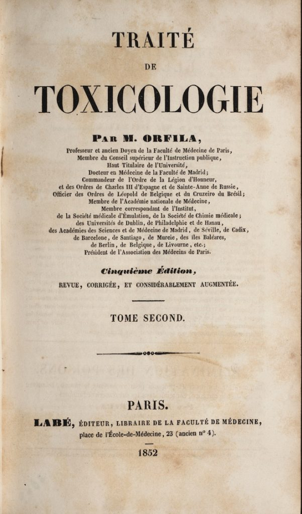 Image of the first edition of Traité de toxicologie
